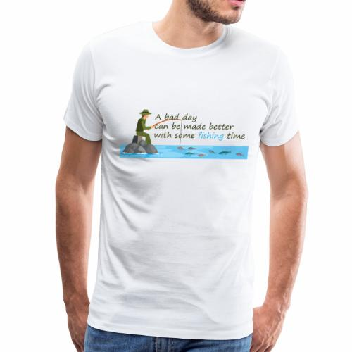 Fishing fish fisherman angler sailor fishing rod - Men's Premium T-Shirt