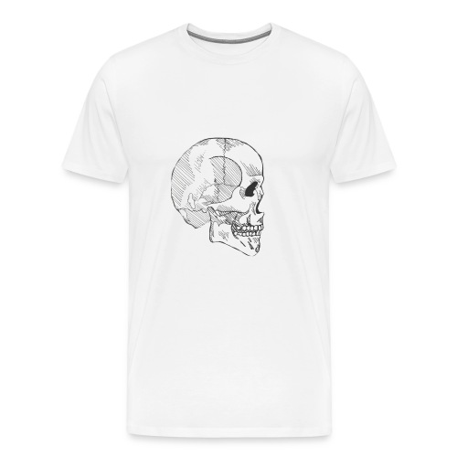 Hashed Skull - Men's Premium T-Shirt