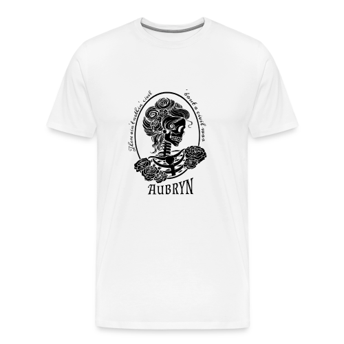 Nothin' Civil Black Rose Skeleton - Men's Premium T-Shirt
