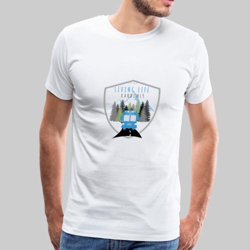 Living Life Randormly Logo - Men's Premium T-Shirt