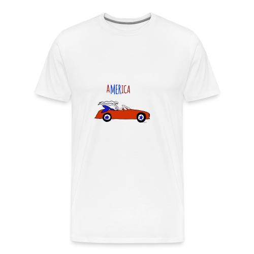 AMERICA patriotic mermaid - Men's Premium T-Shirt