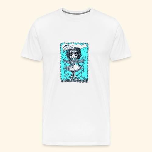 Angel in the Rain Poster - Men's Premium T-Shirt