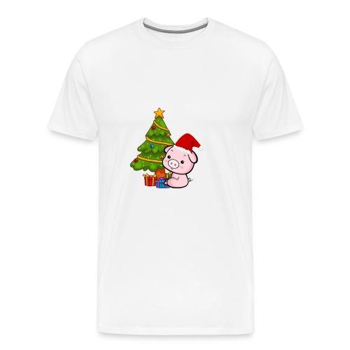 Xmas pig - Men's Premium T-Shirt