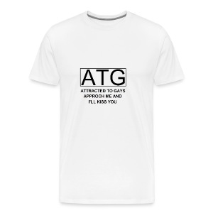 ATG Attracted to gays - Men's Premium T-Shirt