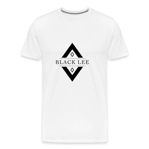 Black Lee Logo Transparent Black - Men's Premium T-Shirt