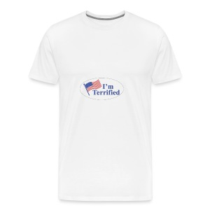 I'm Terrified by Trump - Men's Premium T-Shirt
