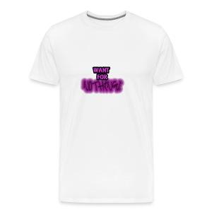 Want for Nothing Purple - Men's Premium T-Shirt