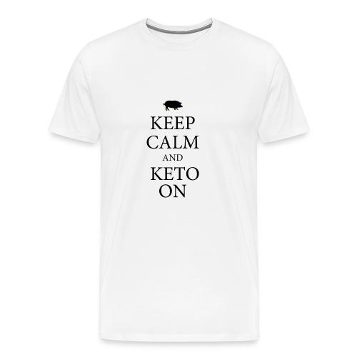 Keto keep calm2 - Men's Premium T-Shirt