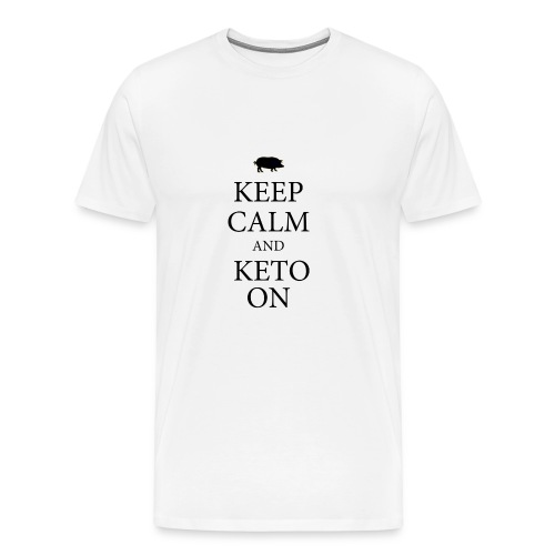Keto keep calm2 - Men's Premium T-Shirt