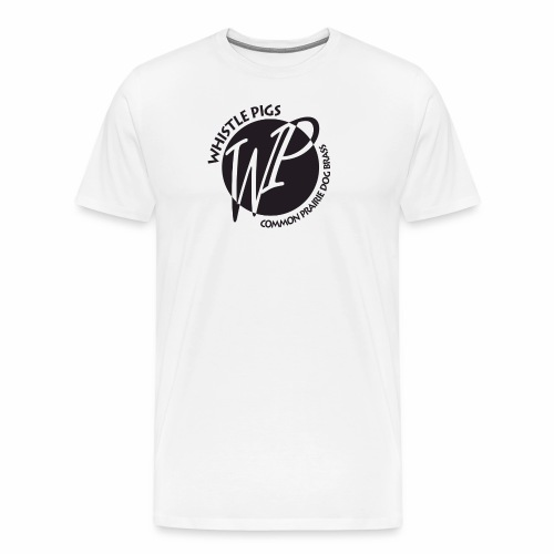 Whistle Pigs initial circle logo - Men's Premium T-Shirt