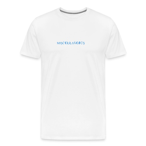 Miscellaneous White&Blue Design - Men's Premium T-Shirt