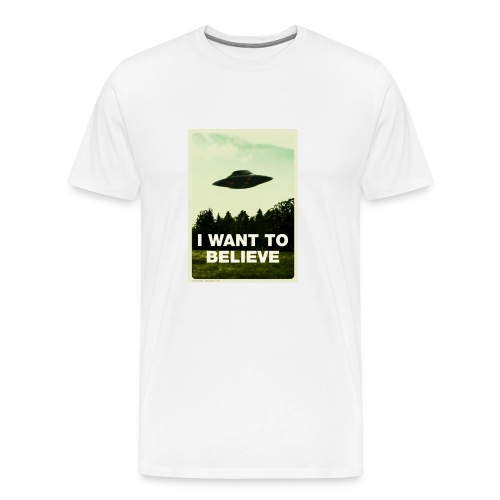 i want to believe (t-shirt) - Men's Premium T-Shirt