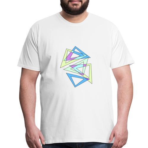 abstract triangles multicolour - Men's Premium T-Shirt