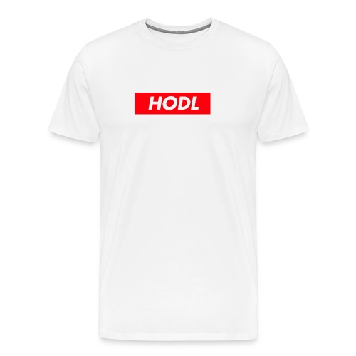 Hodl BoxLogo - Men's Premium T-Shirt