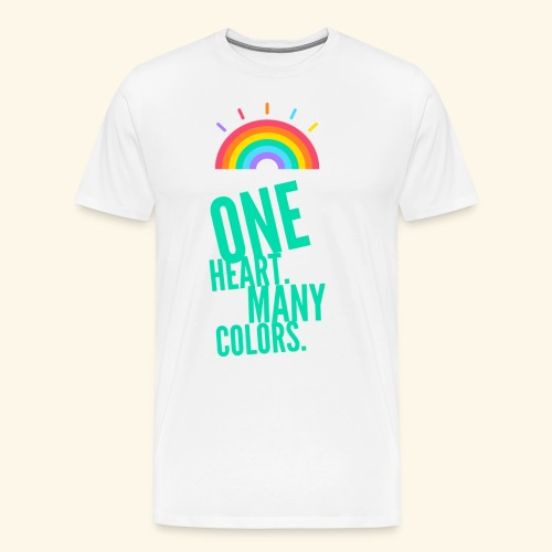 One Heart. Many Colors. - Men's Premium T-Shirt
