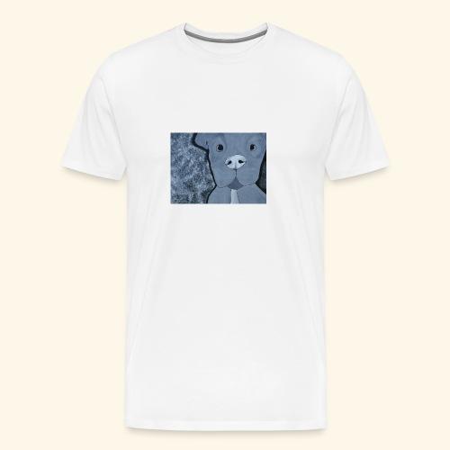Black n White Pup - Men's Premium T-Shirt