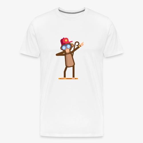Animal doing dabbing movement - monkey - Men's Premium T-Shirt