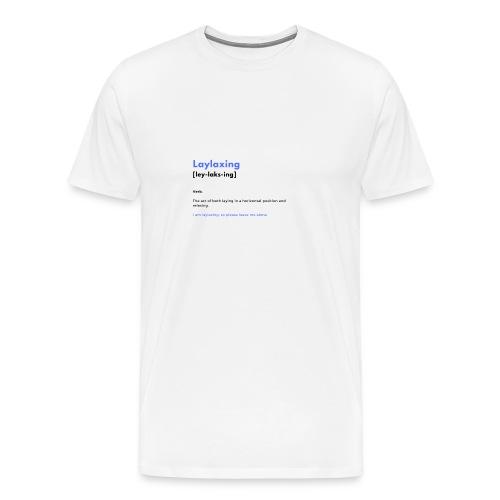 laylaxing blue - Men's Premium T-Shirt