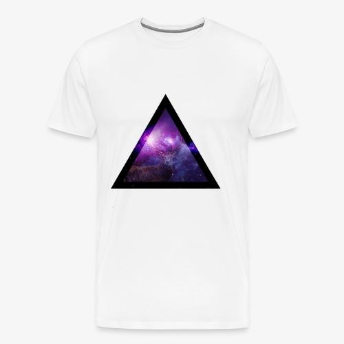 Galaxy with Deer - Men's Premium T-Shirt