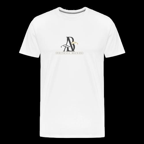 Arbitrage Graphite Logo - Men's Premium T-Shirt