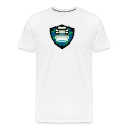 Black Car Front View With Shadow - Men's Premium T-Shirt