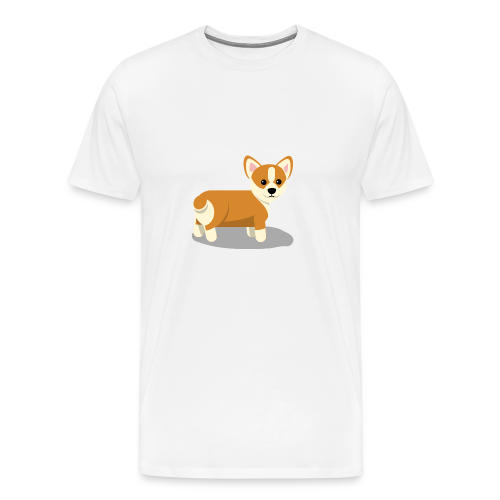 cute corgi - Men's Premium T-Shirt