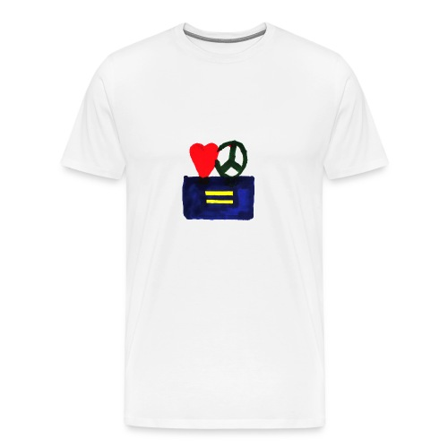 Peace, Love and Equality - Men's Premium T-Shirt