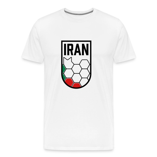 Iran Football Federation Crest - Men's Premium T-Shirt