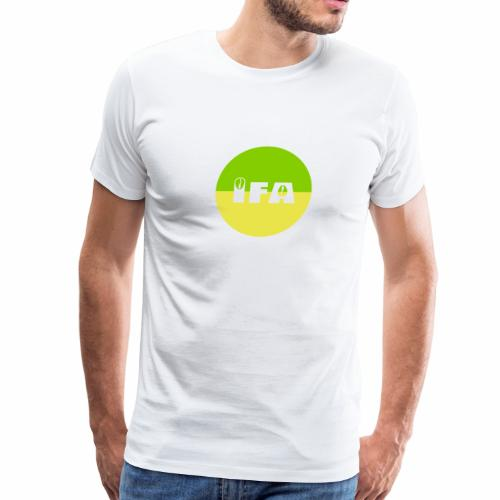 IFA design with cowries in green and yellow circle - Men's Premium T-Shirt