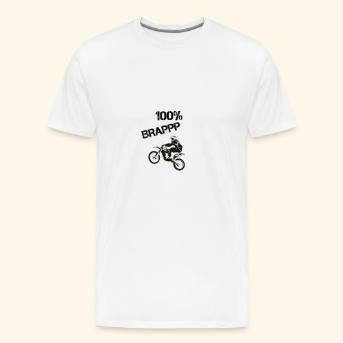 100% BRAPPP (Black and White) - Men's Premium T-Shirt