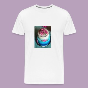 blue ombre cake 4 - Men's Premium T-Shirt