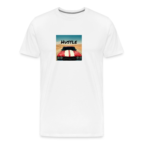 Chevelle With Text Reading Hustle - Men's Premium T-Shirt