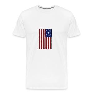 USA Flag (Distressed) - Men's Premium T-Shirt