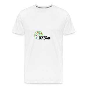 Political Radar Logo - Black - Men's Premium T-Shirt