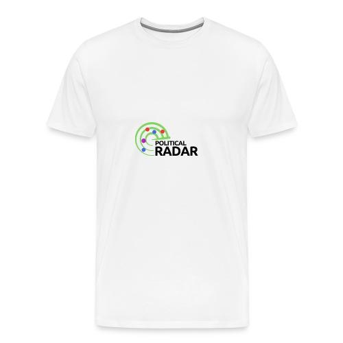 Political Radar Logo - Black - Men's Premium T-Shirt