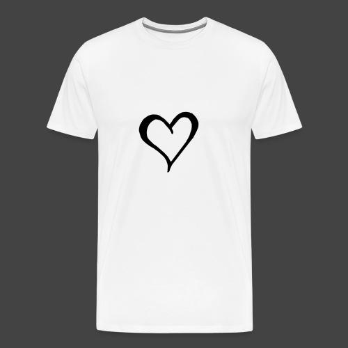 Heart Sketch - Men's Premium T-Shirt