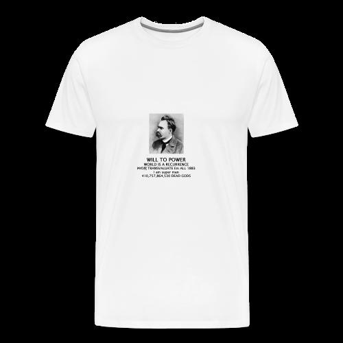 world is a recurrence - Nietzsche - Men's Premium T-Shirt