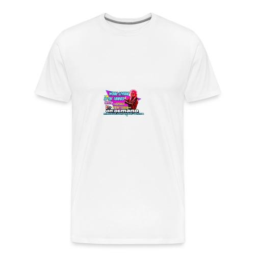 WLIT 1980s On Demand Original with mixcloud link - Men's Premium T-Shirt