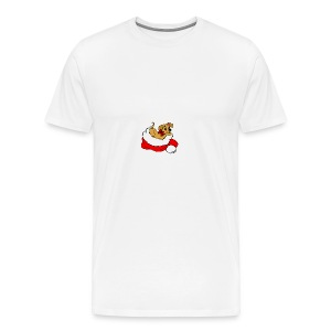 dog_xmas_color - Men's Premium T-Shirt