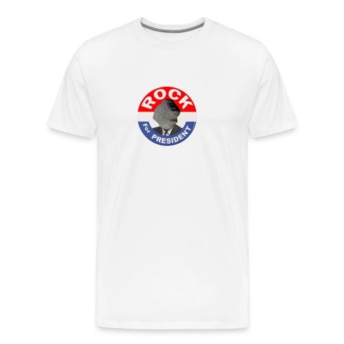 ROCK FOR PRESIDENT - Men's Premium T-Shirt