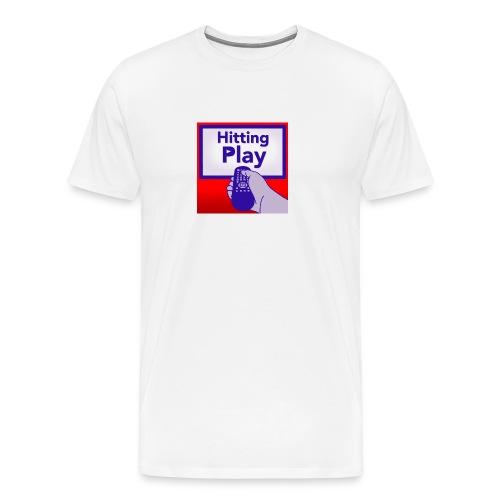 Hitting Play Logo - Men's Premium T-Shirt