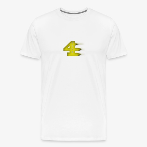 4orce (Yellow) - Men's Premium T-Shirt