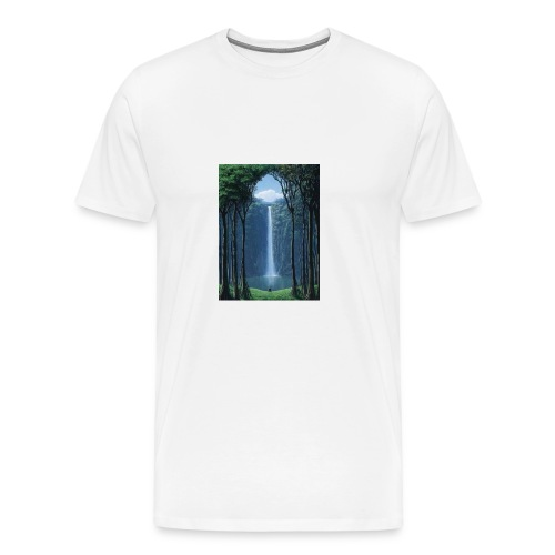 Waterfall lake - Men's Premium T-Shirt