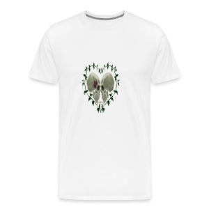 LOVE SKULLS DAISIES - Men's Premium T-Shirt
