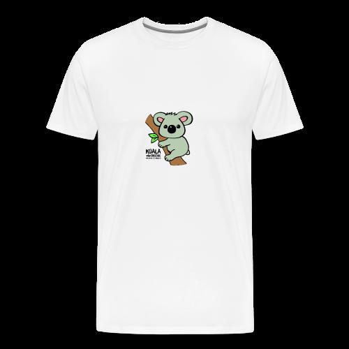 Koala Cute. Art by Paul Bass, assisted by Mollie. - Men's Premium T-Shirt
