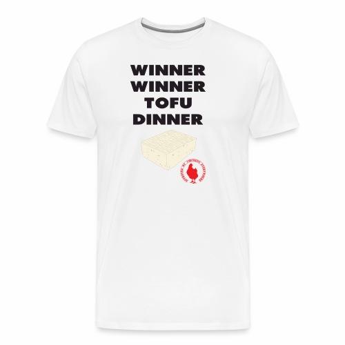 Winner Winner Tofu Dinner - Men's Premium T-Shirt