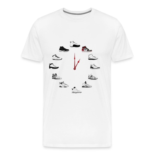 Shoe Clock Black Toe 1 s - Men's Premium T-Shirt