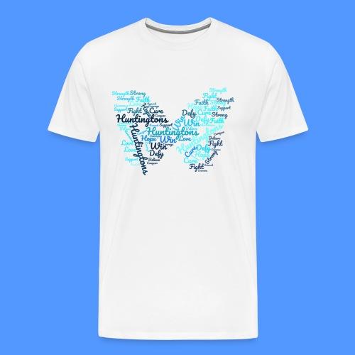 Huntington's Disease Butterfly Word Graphic - Men's Premium T-Shirt