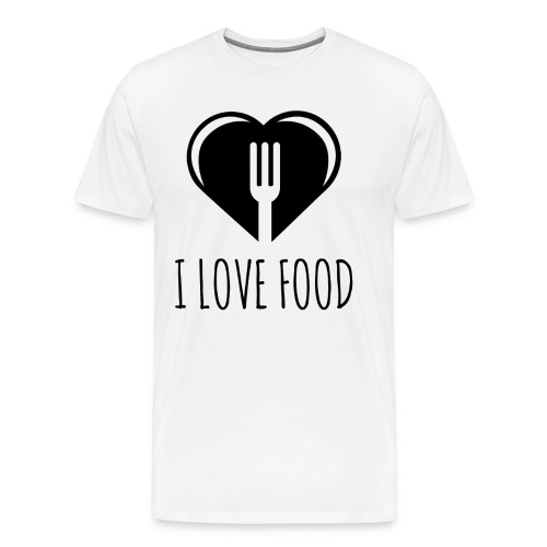 Funny Food Quote I Love To Eat - Heart, Fork Diet - Men's Premium T-Shirt