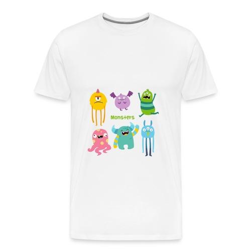 The monsters full colour - Men's Premium T-Shirt